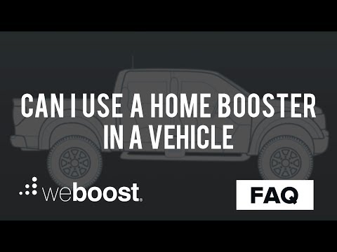 Can I Use A Home Signal Booster In A Vehicle? | weBoost