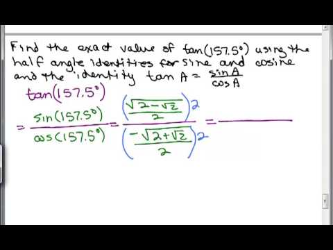 Compute using Trig Half Angle Identity 2C