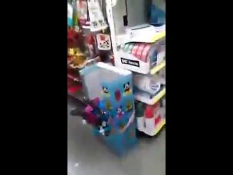 Kid goes crazy and Destroys Dollar Store