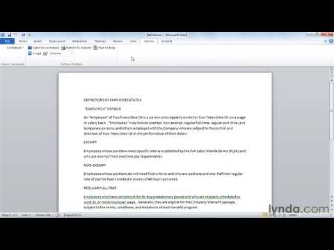 How to use the Microsoft Word Ribbon | lynda.com tutorial