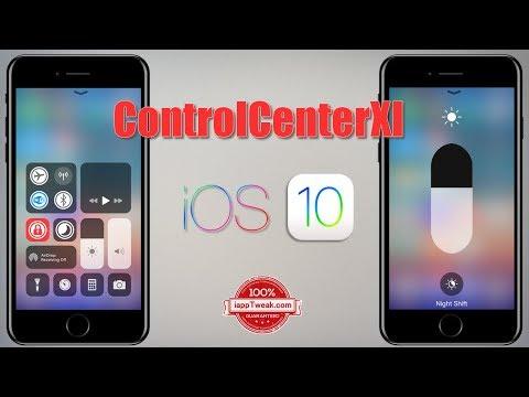 ControlCenterXI Tweak: Brings the iOS 11 Control Center to iOS 10, 9 & 8