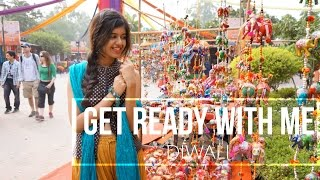 Get Ready with Me for Diwali! Hair+Makeup+Outfit!