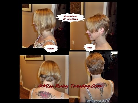 Miss Ruby Tuesday- Pixie Haircut (Short Shag) With Long Bang