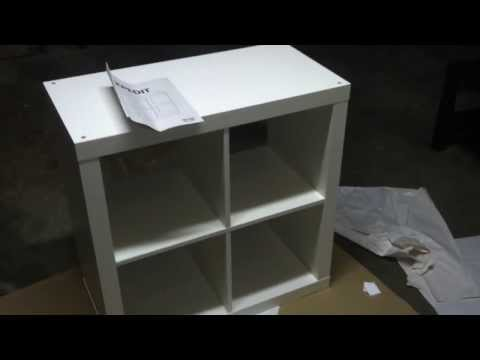 Ikea EXPEDIT small cube storage unit build tutorial
