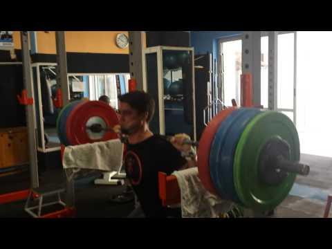 Pin squat 175kg x5