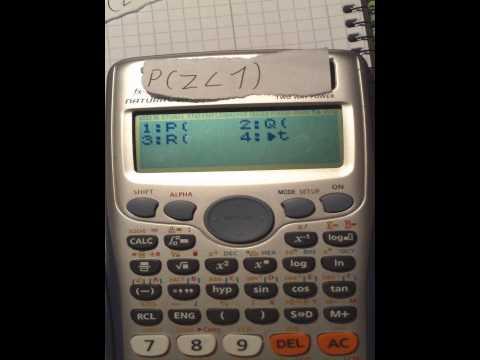Casio fx991 DE PLUS distribution under a bell curve