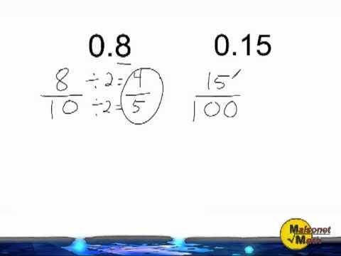 Converting Decimals Into Fractions