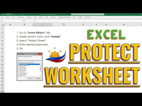 Excel Protecting Worksheet