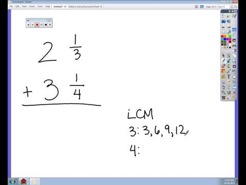 Adding Mixed Numbers with Unlike Denominators.avi