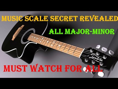 How To Learn Guitar Scales - Major/Minor Scales Lesson In Detail | Secret Revealed