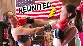 Reunited w/ my best friend who lives 7,000 miles away + our boxing session ;)