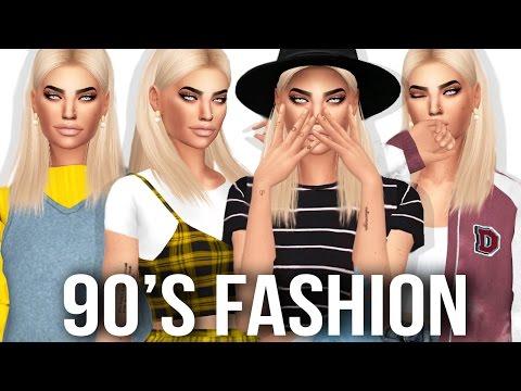 The Sims 4: 90's Fashion Lookbook   FULL CC LIST & DOWNLOAD SIM