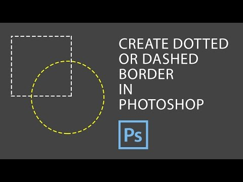Photoshop - How to Create Dotted Border in Photoshop