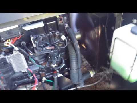 Briggs and Stratton 30KW propane generator start up