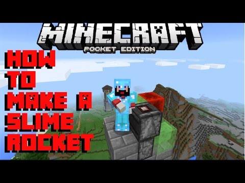 How to Make a Rocket Engine in Minecraft PE (Pocket Edition 1.0.2)