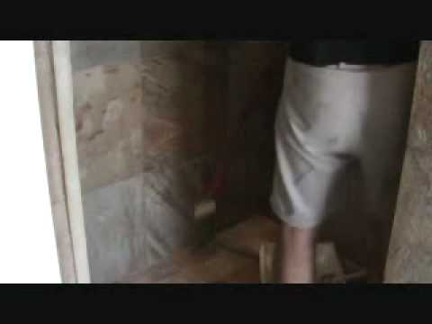 How to seal a natural stone tile shower: sealing the walls with a