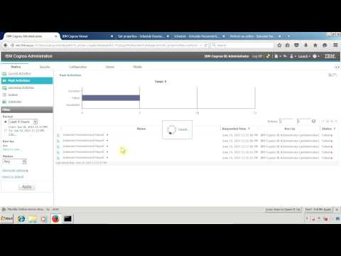IBM Cognos 10.2.1 Report Studio Schedule Report Having Prompts