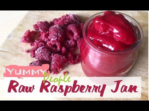 Raw vegan raspberry jam recipe (quick and easy vegan dessert recipe)✅