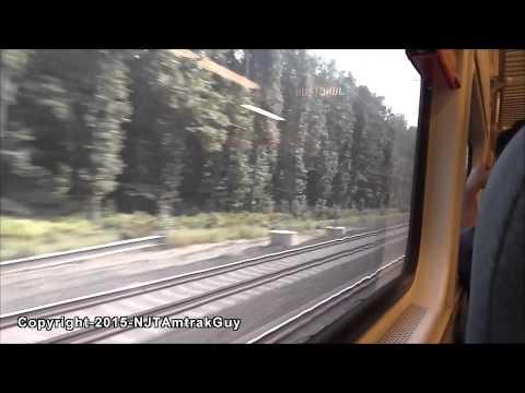 Midday NJ Transit train ride to Princeton Junction