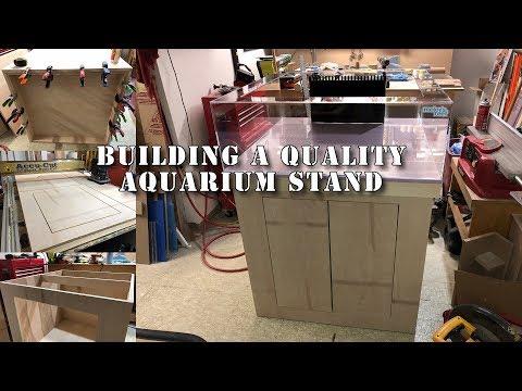 I built an aquarium cabinet for a frag tank