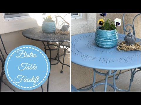 Bistro Table DIY Refresh | Before & After