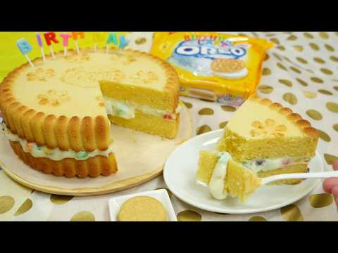 Giant Golden Oreo Birthday Cake ジャイアントゴールデンオレオ バースデイケーキ