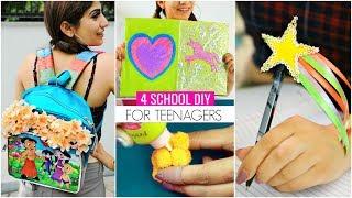 4 BACK To SCHOOL DIY For TEENAGERS... | #SchoolSupplies #Craft #Anaysa #DIYQueen