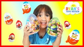 KINDER SURPRISE EGGS Unboxing Opening Surprise Eggs Kids Toys Paw Patrol Disney Cars Minions TMNJ