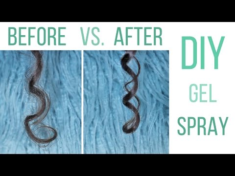 DIY Gel Spray  For Frizz Free Curls