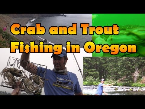 Catching Dungeness Crab and Trout in Oregon - Dungeness Trail