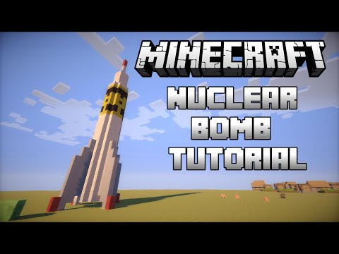 Minecraft: How To Build A Nuclear Bomb That Explodes Part 1 (1.8.4) May 2015