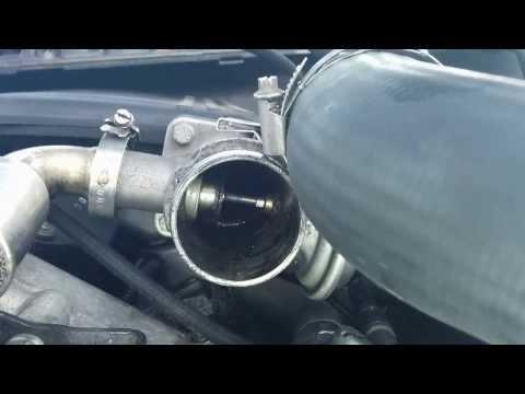 BMW 320d E46 M47 2000 - EGR operation (vacuum hose attached)
