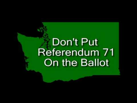 Decline to Sign Referendum 71