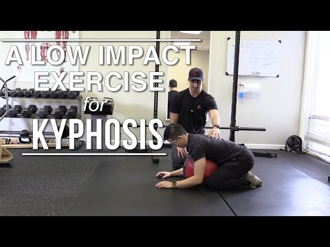 A low impact exercise for kyphosis (rounded upper back)