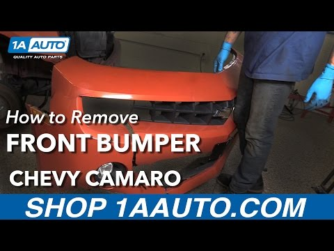How to Remove Front Bumper 11 Chevy Camaro