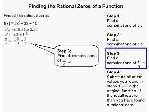 How to Find the Rational Zeroes of a Function