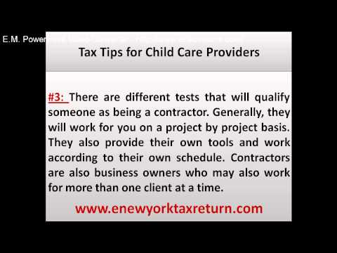 Tax Tips for Child Care Providers