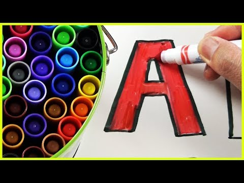 CRAYOLA Color Marker Learning ABC Letter Alphabets, Colors and ABC Song