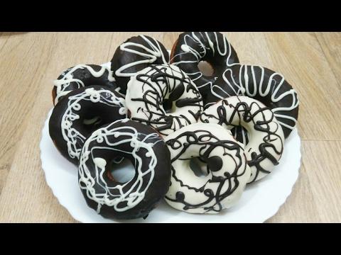 Donuts (Eggless) Recipe in Hindi | Chocolate Glazed Eggless  Donuts 🍩 | Homemade Tasty Donuts.....