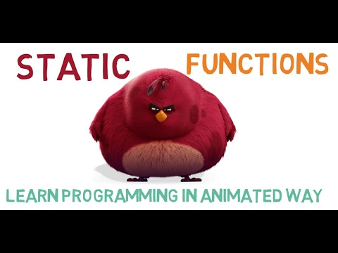 STATIC FUNCTIONS IN C++ - 25