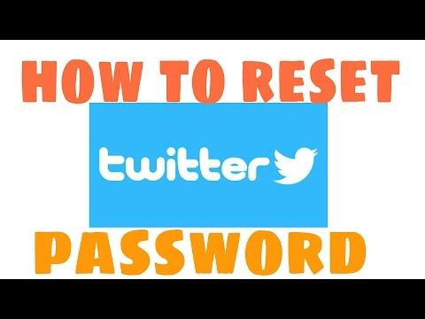 how to reset twitter password on android