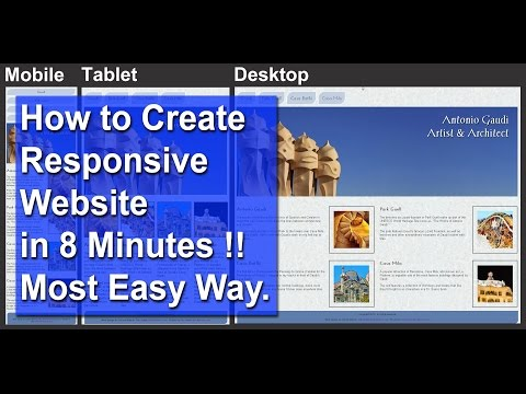 How To Make a Responsive Website in 8 Minutes (Dreamweaver Tutorial)