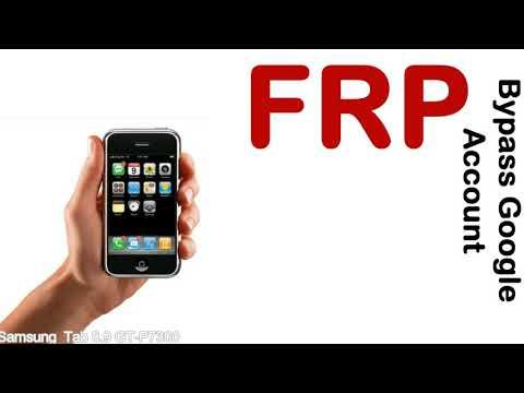 How to Unlock Samsung Galaxy Tab 8 9 GT P7300 Google Account (Fix FRP)
