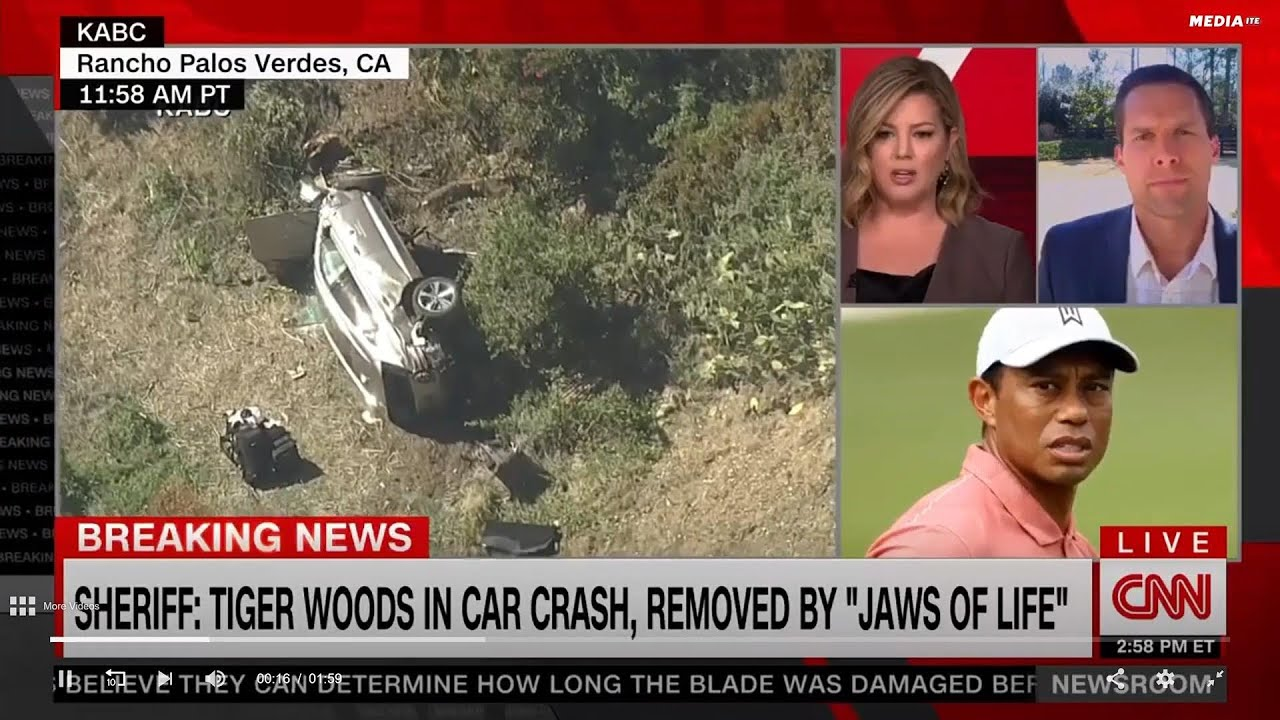 Wall-to-Wall Coverage Of Tiger Woods Crash