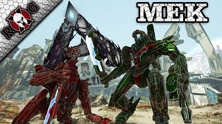 ARK | MEK CRAFTING & REVIEW! ROCKETS, CANNON, AND A SHIELD