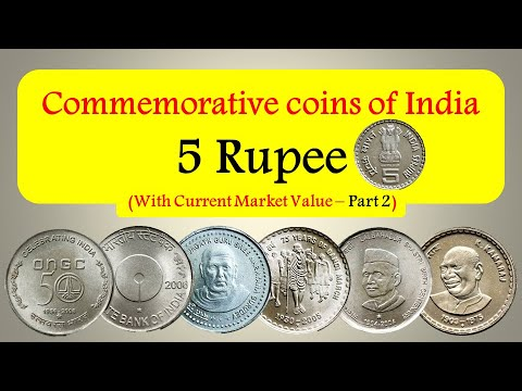 Commemorative coins of India with current market value - 5 Rupees ( Part 2 )