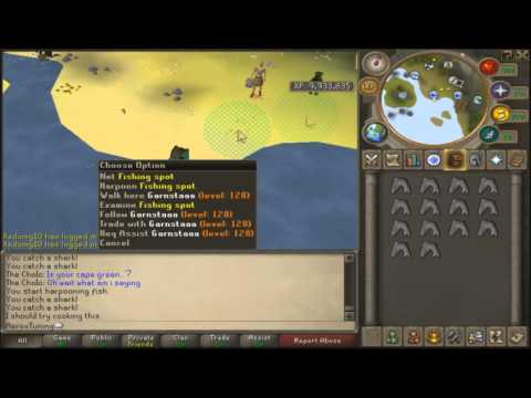 Catching Sharks On Runescape [GREAT CASH]