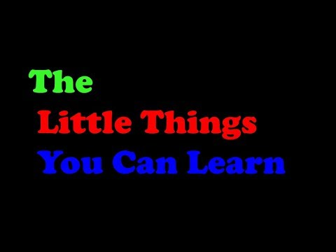 Finance Training - The Little Things You Can Learn