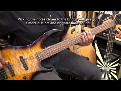 Getting Started On The 5 String Electric Bass Guitar Lesson #1 EricBlackmonMusicHD FIRST