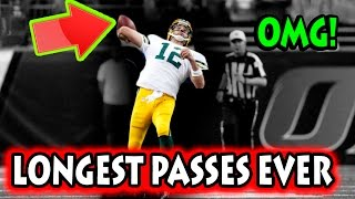 Longest Passes in Football History (NFL)